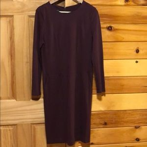 Talbots Plum Pockets Paneled Sheath Dress Size 10P